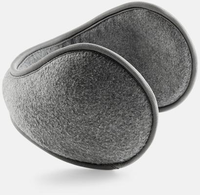 Charcoal Öronmuffar i suprafleece med reklambrodyr