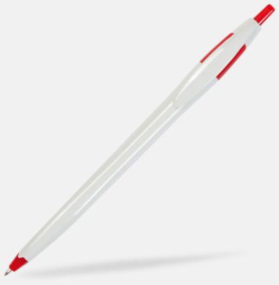Vit/Röd Riktigt billiga bläckpennor med tryck