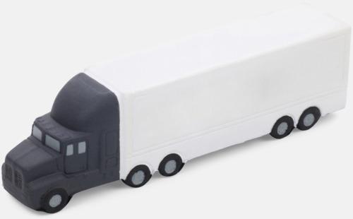 Vit / Mörkgrå Lastbilsformade stressbollar med reklamtryck