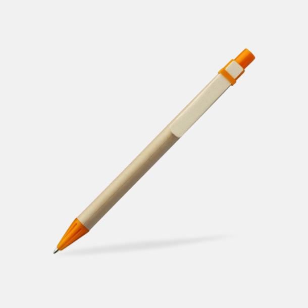 Orange Miljövänliga pennor med tryck