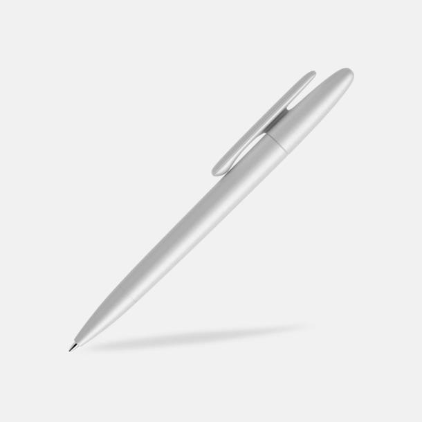 Silver (varnished matt) Prodir pennor i matta, solida färger - med tryck