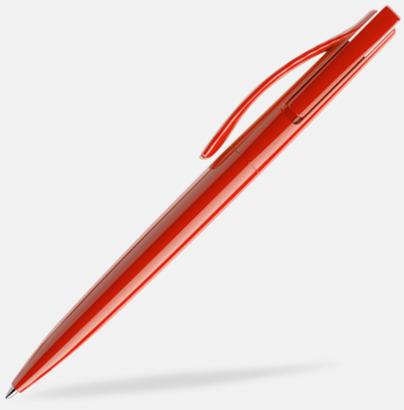 Röd (polished) Prodir pennor i färger med tryck