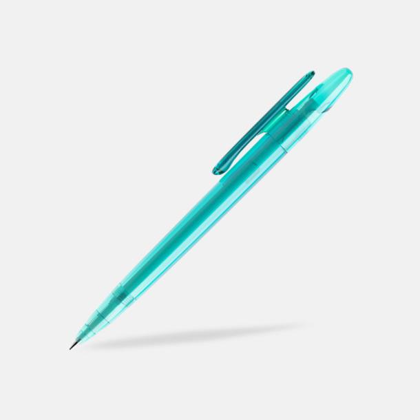 Aqua (transparent) Prodir pennor i matta, solida färger - med tryck