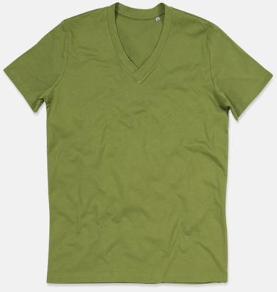 Earth Green (v-neck herr) Ekologiska t-shirts i flera modeller och många färger - med reklamtryck