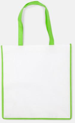 Ljusgrön/Vit Shoppingbagar i Non woven med tryck