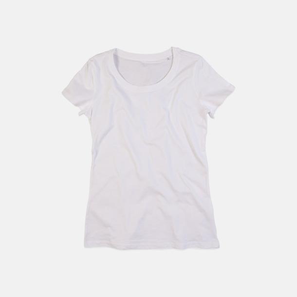 Vit (crew-neck dam) Ekologiska t-shirts i flera modeller och många färger - med reklamtryck