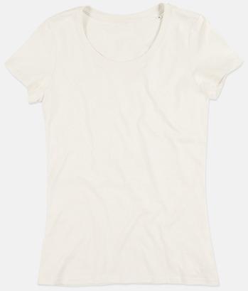 Winter White (crew-neck dam) Ekologiska t-shirts i flera modeller och många färger - med reklamtryck