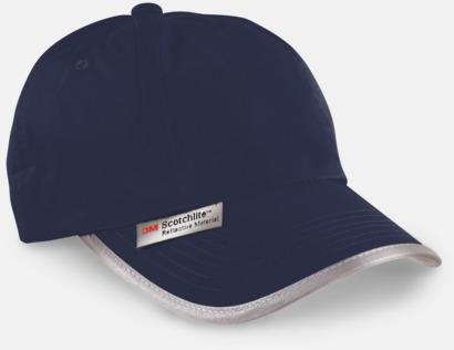 Marinblå Kepsar med reflexband och fluorescerande färger