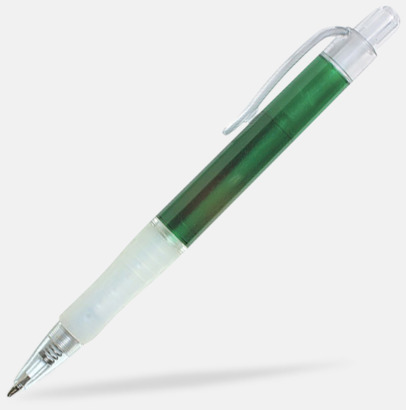 Grön/Transparent Oliver - Billiga pennor med tryck