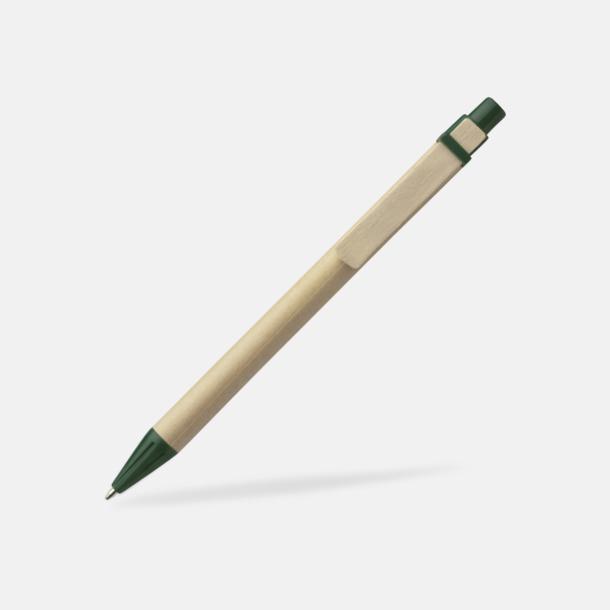 Mörkgrön Miljövänliga pennor med tryck