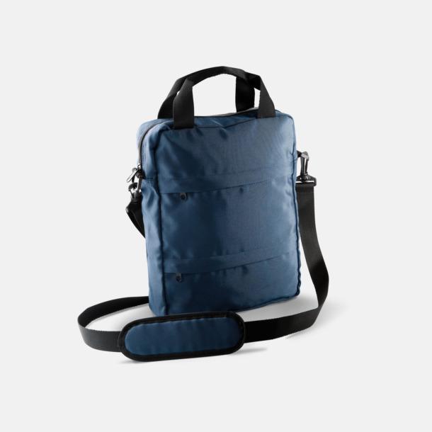 Marinblå Messenger Bag för surfplattor - med tryck