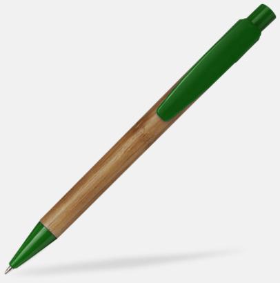 Grön / Ljust trä Bläckpennor i bambu med tryck