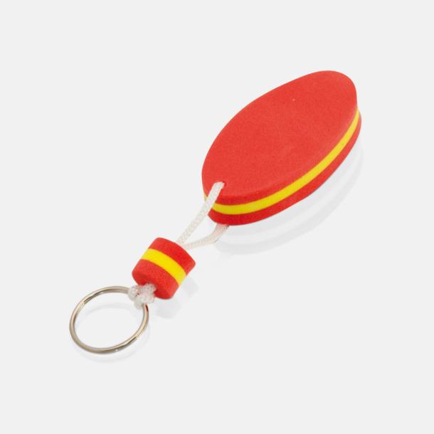 Röd/gul Små nyckelringar som flyter - med tryck
