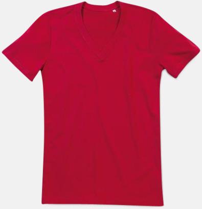 Pepper Red (v-neck herr) Ekologiska t-shirts i flera modeller och många färger - med reklamtryck