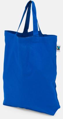 PMS 280 Färgglada kassar som är ekologiska och Fairtrade-certifierade - med reklamtryck