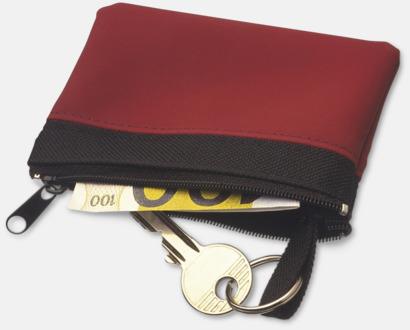 Små plånböcker med nyckelringar i mörka färger