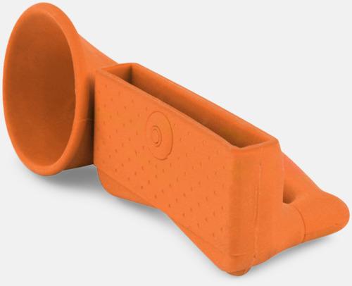 Orange Ljudförstärkare för iPhone med eget tryck