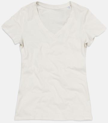Winter White (v-neck dam) Ekologiska t-shirts i flera modeller och många färger - med reklamtryck