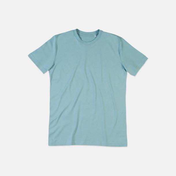 Frosted Blue (crew-neck herr) Ekologiska t-shirts i flera modeller och många färger - med reklamtryck