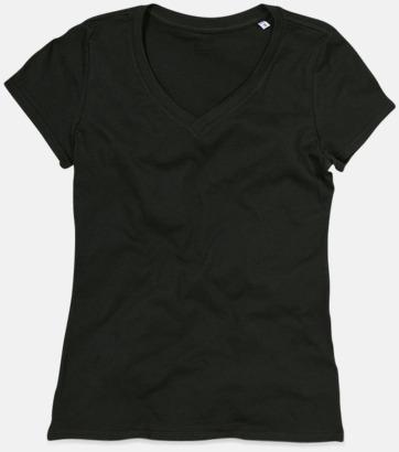 Black Opal (v-neck dam) Ekologiska t-shirts i flera modeller och många färger - med reklamtryck