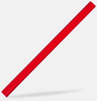 Röd Snickarpennor med reklamtryck