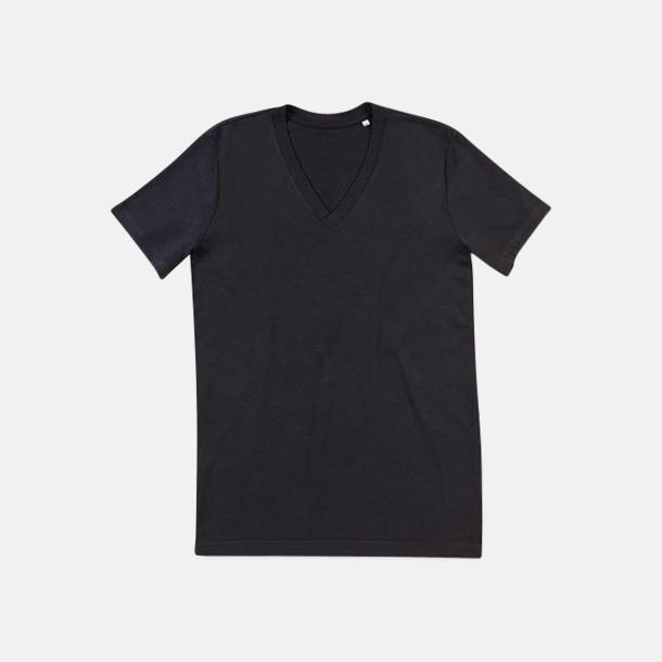 Black Opal (v-neck herr) Ekologiska t-shirts i flera modeller och många färger - med reklamtryck