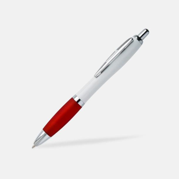 Röd / Vit Populära pennor med tryck till förmånligt pris