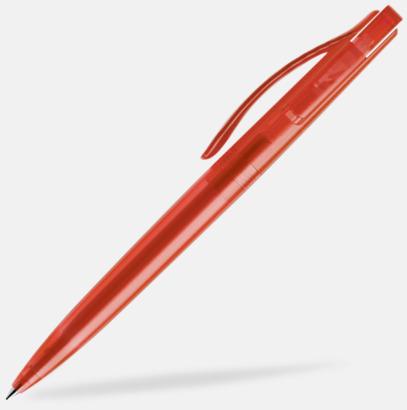 Röd (frostad) Prodir pennor i färger med tryck