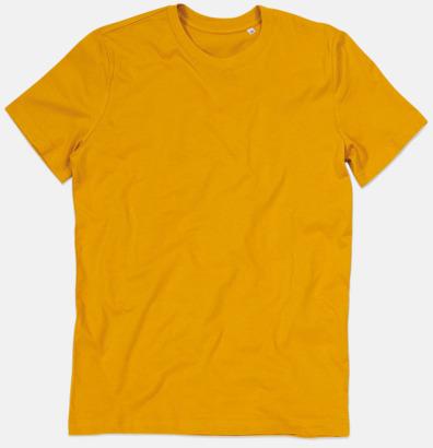 Indian Yellow (crew-neck herr) Ekologiska t-shirts i flera modeller och många färger - med reklamtryck
