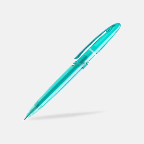 Aqua (transparent) East Elegance pennor från Prodir - med tryck