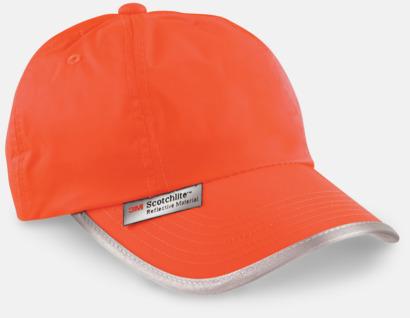Fluorescerande Orange Kepsar med reflexband och fluorescerande färger