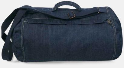 Deep Blue Denim Res- och sportväska i jeans - med reklamtryck