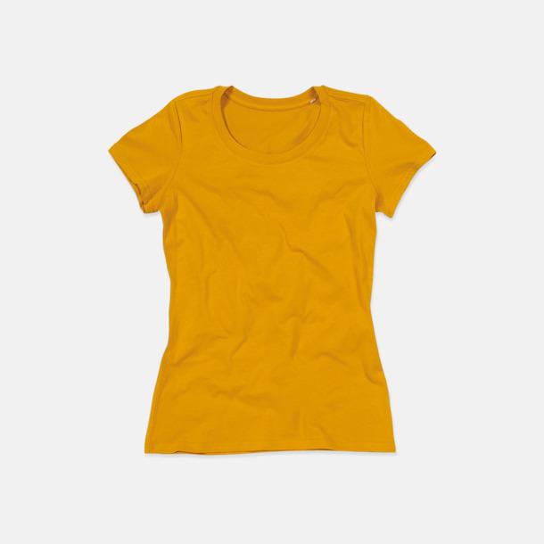 Indian Yellow (crew-neck dam) Ekologiska t-shirts i flera modeller och många färger - med reklamtryck
