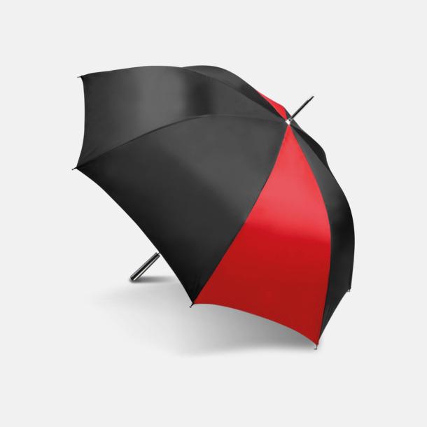 Tvåfärgade golfparaplyer med reklamtryck