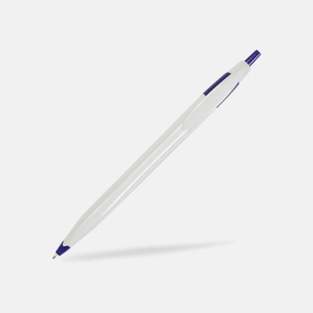 Vit/Blå Riktigt billiga bläckpennor med tryck
