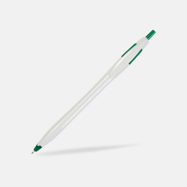 Vit/Grön Riktigt billiga bläckpennor med tryck