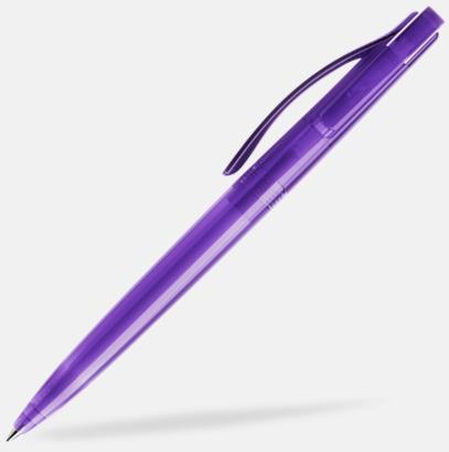 Lila (transparent) Prodir pennor i färger med tryck