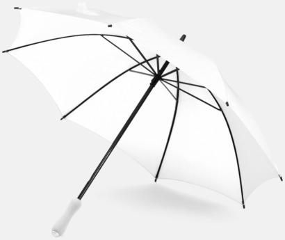 Vit Paraplyer med bärremmar - med tryck
