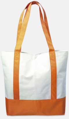 Orange / Vit Nylonkassar med tryck