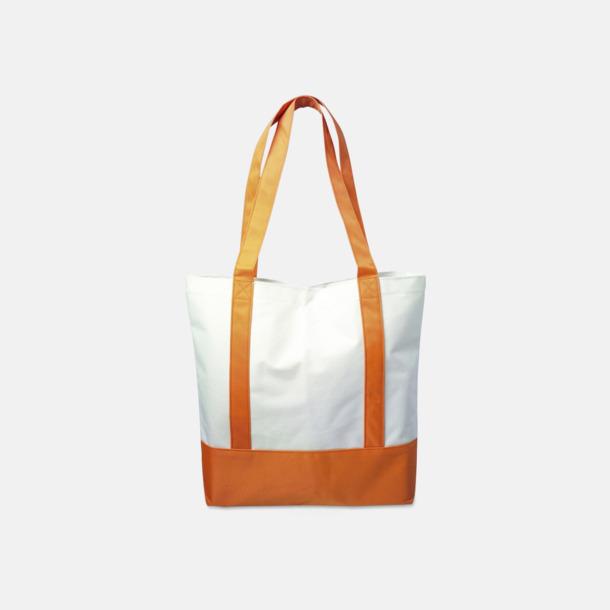 Orange / Vit Nylonkassar med reklamtryck