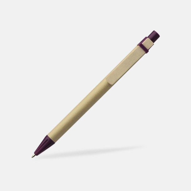 Lila Miljövänliga pennor med tryck