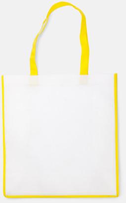 Gul / Vit Shoppingbagar i Non woven med tryck