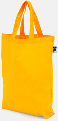 PMS 137 Färgglada kassar som är ekologiska och Fairtrade-certifierade - med reklamtryck