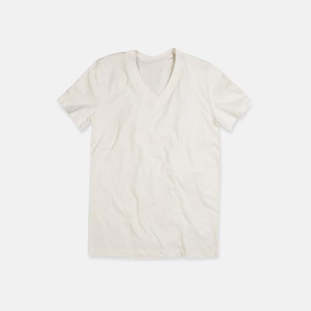 Winter White (v-neck herr) Ekologiska t-shirts i flera modeller och många färger - med reklamtryck