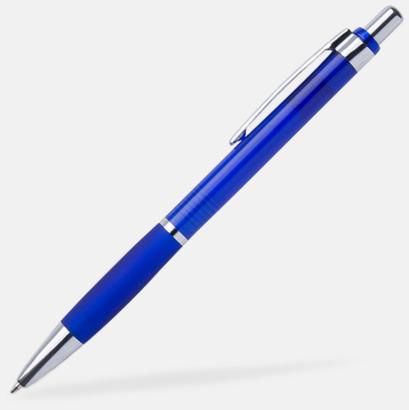 Blå Tunna bläckpennor med gummigrepp