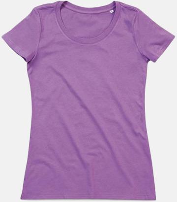 Lavender Purple (crew-neck dam) Ekologiska t-shirts i flera modeller och många färger - med reklamtryck