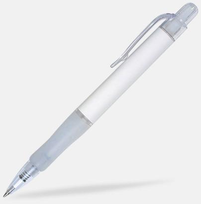 Vit (solid) Oliver - Billiga pennor med tryck