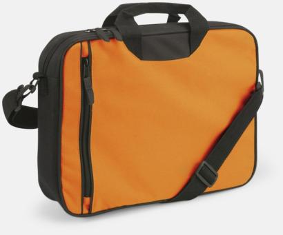 Orange Användbara dokumnetväskor med tryck