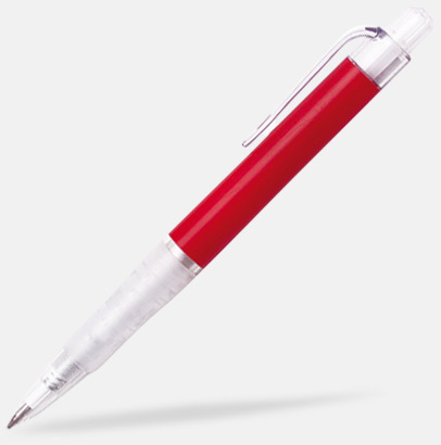 Röd (solid) Oliver - Billiga pennor med tryck