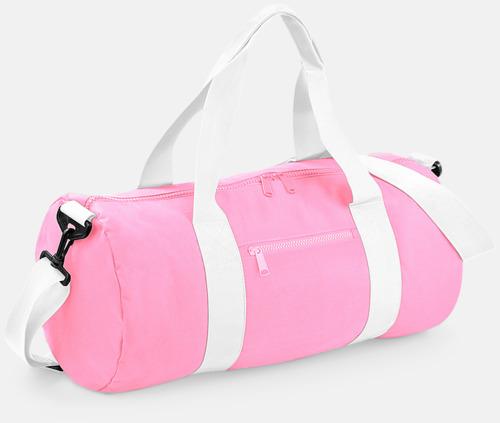 Classic Pink/Vit Sportbagar i camomönster med reklamtryck